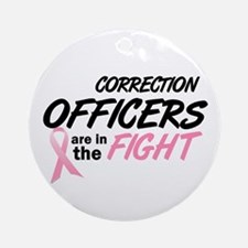 Correction Officers In The Fight Ornament (Round)