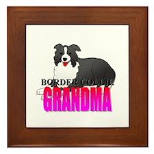 Border Collie Grandma Framed Tile