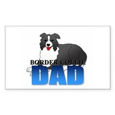Border Collie Rectangle Decal