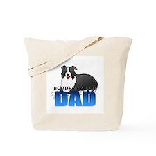 Border Collie Dad Tote Bag