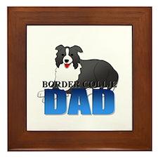 Border Collie Dad Framed Tile