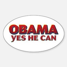 Yes he can Oval Decal