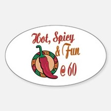 Hot N Spicy 60th Oval Decal