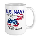 U.S. Navy Freedom Isn't Free Large Mug