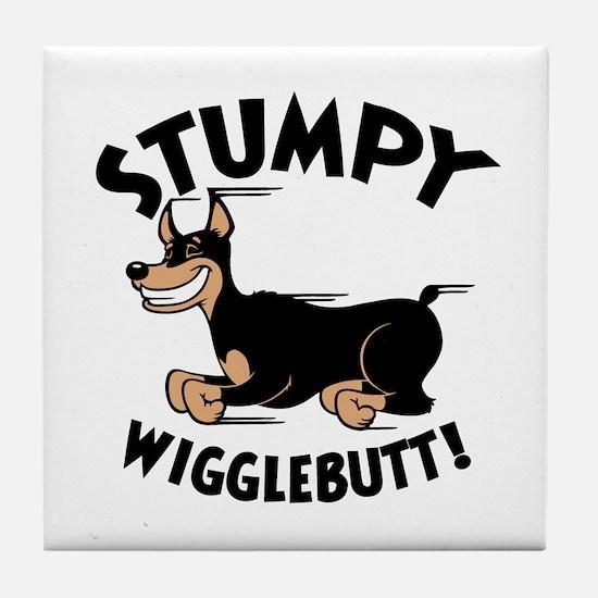 Stumpy Wigglebutt! Tile Coaster