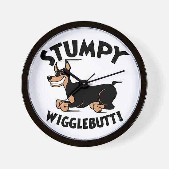 Stumpy Wigglebutt! Wall Clock