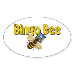 Bingo Bee Oval Decal