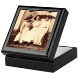 Forever sisters forever friends Square Keepsake Boxes
