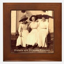 Sisters are Friends Forever Framed Tile