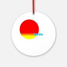 Carlie Ornament (Round)