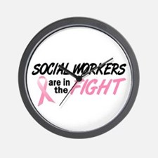 Social Workers In The Fight Wall Clock