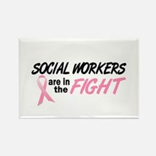 Social Workers In The Fight Rectangle Magnet