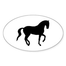 Piaffe Horse Oval Decal