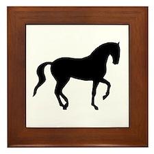Piaffe Horse Framed Tile