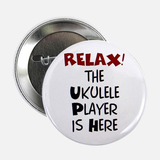 """ukulele player here 2.25"""" Button"""