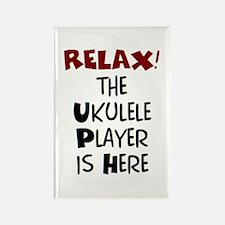 ukulele player here Rectangle Magnet