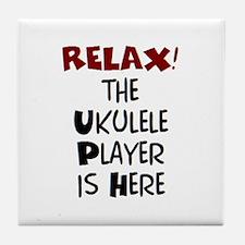 ukulele player here Tile Coaster