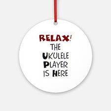ukulele player here Ornament (Round)