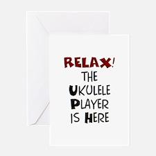 ukulele player here Greeting Card