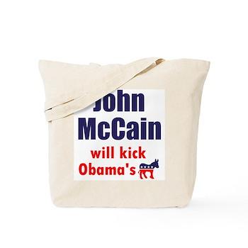 Kick Obama's Ass Tote Bag