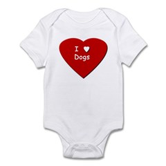 I Love Dogs - Infant Creeper