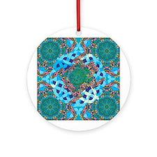 Celtic Turtle Ornament (Round)