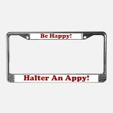 Halter License Plate Frame