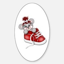 LITTLE SNEAKER (red) Oval Decal