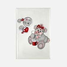 BLOWING BUBBLES Rectangle Magnet