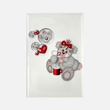 BLOWING BUBBLES Rectangle Magnet (100 pack)