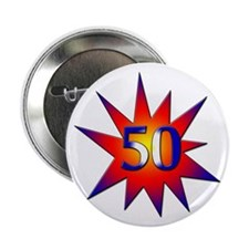 "50th Birthday 2.25"" Button (100 pack)"