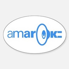 The Official amaroK Oval Decal