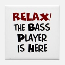 bass player here Tile Coaster