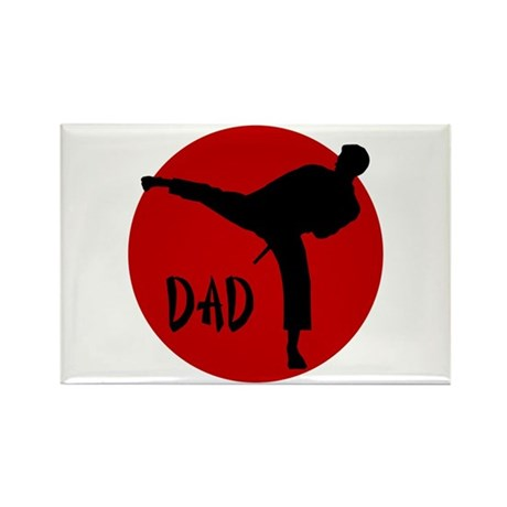 Dad Karate Rectangle Magnet