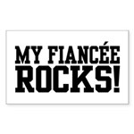 My Fiancee Rocks Rectangle Sticker