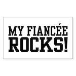 My Fiancee Rocks Rectangle Sticker 10 pk)