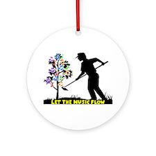 Music Flow Ornament (Round)