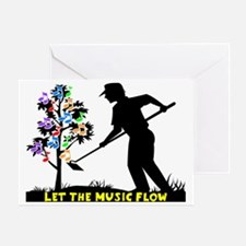 Music Flow Greeting Card