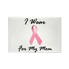 I Wear Pink For My Mom 1.2 Rectangle Magnet (10 pa