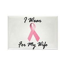 I Wear Pink For My Wife 1.2 Rectangle Magnet