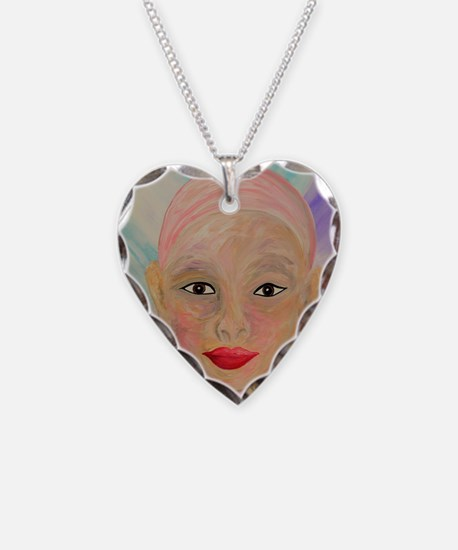 Cute Chemo Necklace Heart Charm