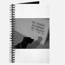 Black Lab No Dogs Allowed Journal