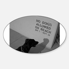 Black Lab No Dogs Allowed Oval Decal