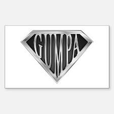 Super Gumpa - Metal Rectangle Decal
