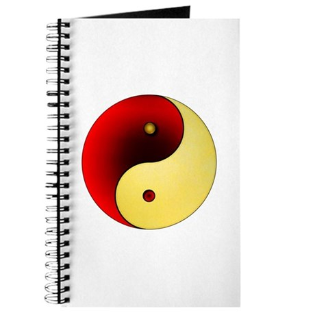 Yin-Yang (red/gold) Journal