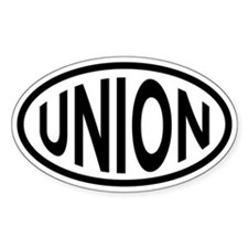 Union Oval Bumper Stickers