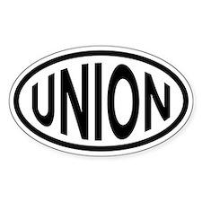 Union Oval Bumper Stickers