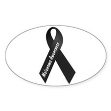Melanoma Awareness 1 Oval Decal