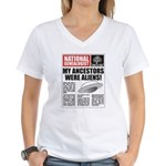 Ancestors Were Aliens Women's V-Neck T-Shirt