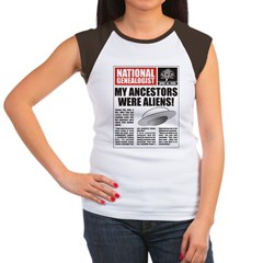 Ancestors Were Aliens Women's Cap Sleeve T-Shirt
